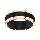 Two-Tone Black Tungsten Wedding Band