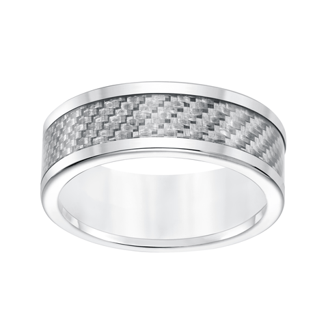Carbon Fiber Tungsten Wedding Band
