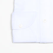Black Line Cutaway collar shirt in cotton twill - White
