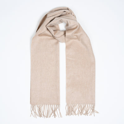 Arran Cashmere Scarf - Light Natural