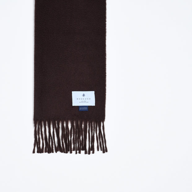Arran Cashmere Scarf - Chocolate