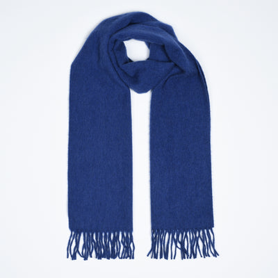 Lambswool-Angora Scarf - Royal Blue