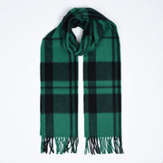 Lambswool-Angora Shamrock - Green / Black
