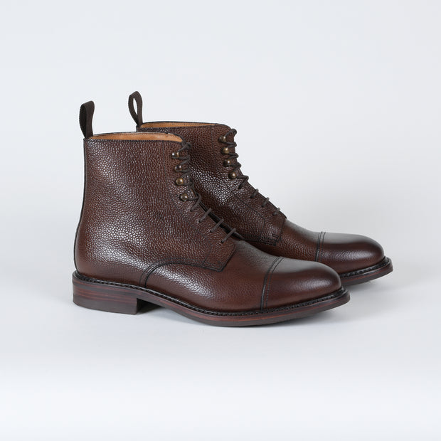 Cap-toe Boot 321-K2 in Brown Scotch Grain