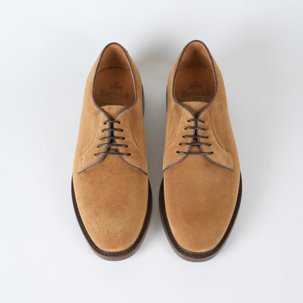 Plain Toe Derby 4406 in Rame Suede