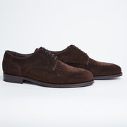 Split Toe Derby in Dark Brown Oil Suede
