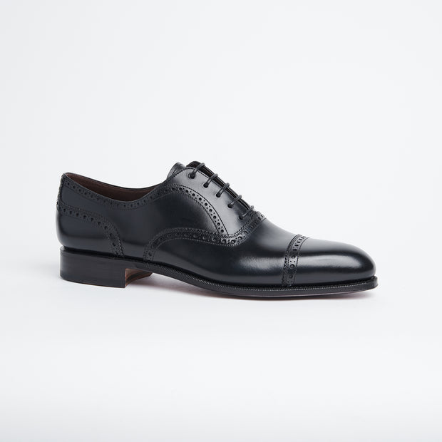 Semi Brogue Oxford 80195 in Black Calf