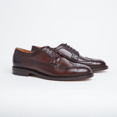 Longwing Derby 4550 in Dark Brown Calf JR-soles