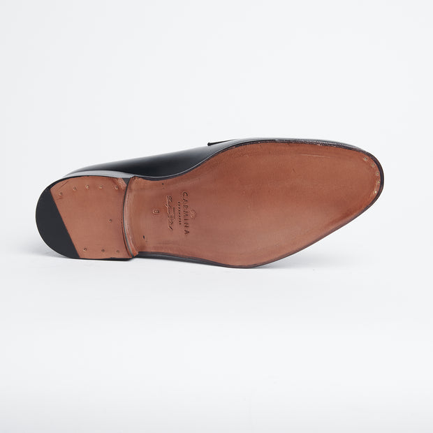 Horsebit Loafer in Black Calf