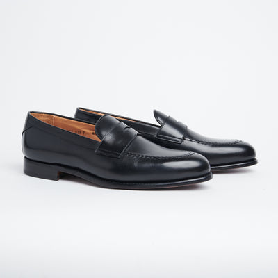 Baron 7027 Penny Loafer in Black Calf