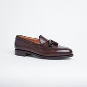 Braided Tassel Loafer 4340 in Brown Calf