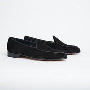 Belgian Loafer 4950 in Black Suede