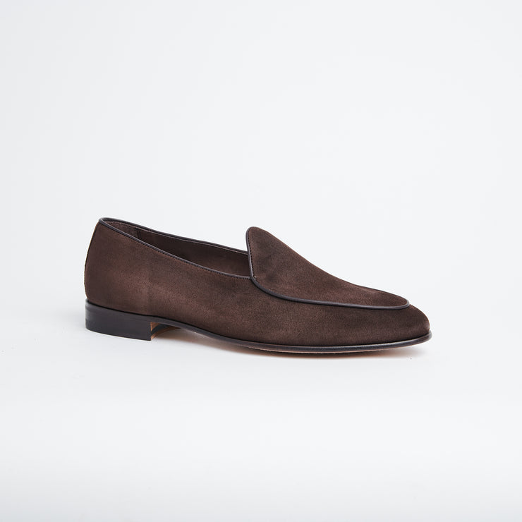 Belgian Loafer 4950 in Dark Brown Suede