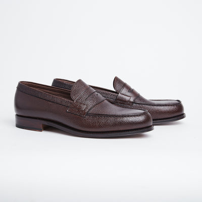 Penny Loafer in Brown Scotch Grain