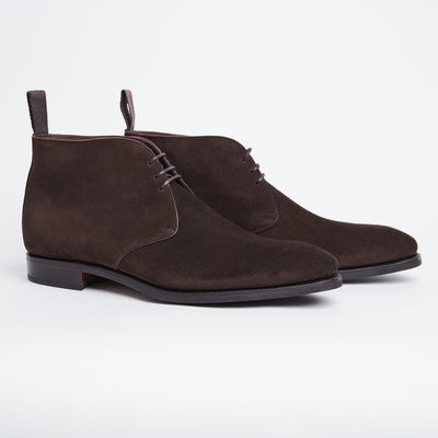 Chukka Boot in Dark Brown Suede