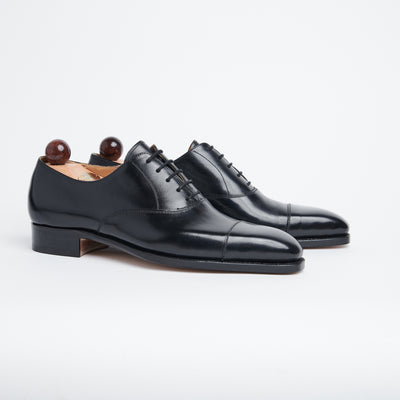 Cap Toe Oxford in Black Calf
