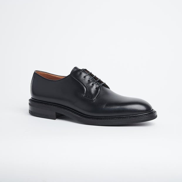 Plain Toe Derby in Black Calf