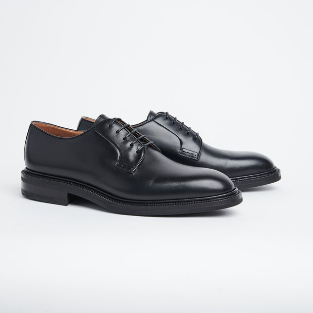 Plain Toe Derby 531 in Black Calf