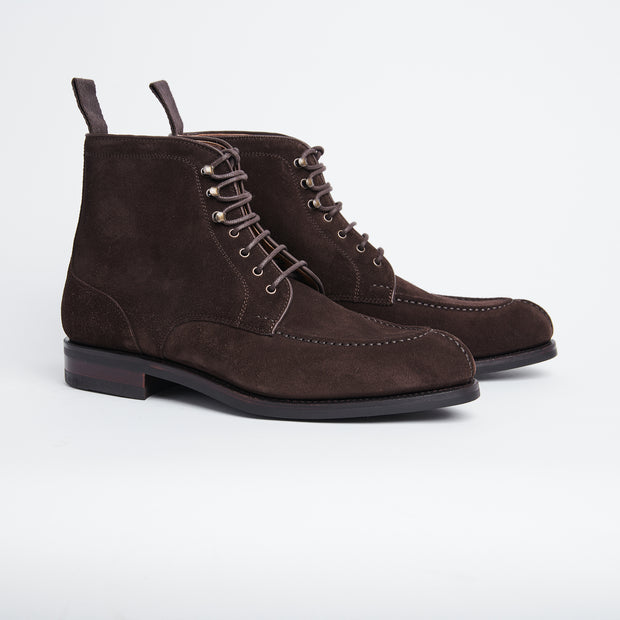 Norwegian Split-toe Boot in Dark Brown Suede