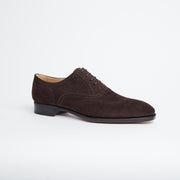 Faux Wingtip Oxford 110 in Dark Brown Suede