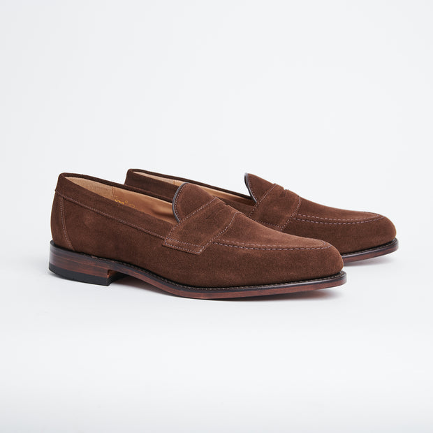 Imperial Penny Loafer in Brown Suede