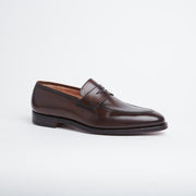 Sydney Penny Loafer in Dark Brown Burnished Calf