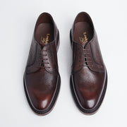 Plain Toe Derby in Brown Scotch Grain