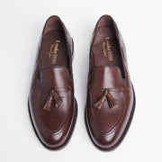 Russell Tassel Loafer in Dark Brown Calf