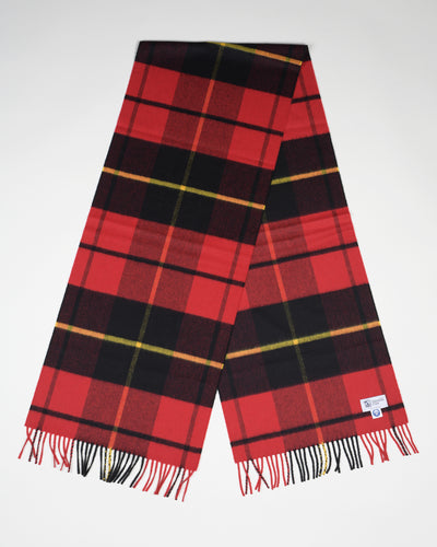 Ultrafine Merino Scarf in Wallace Tartan