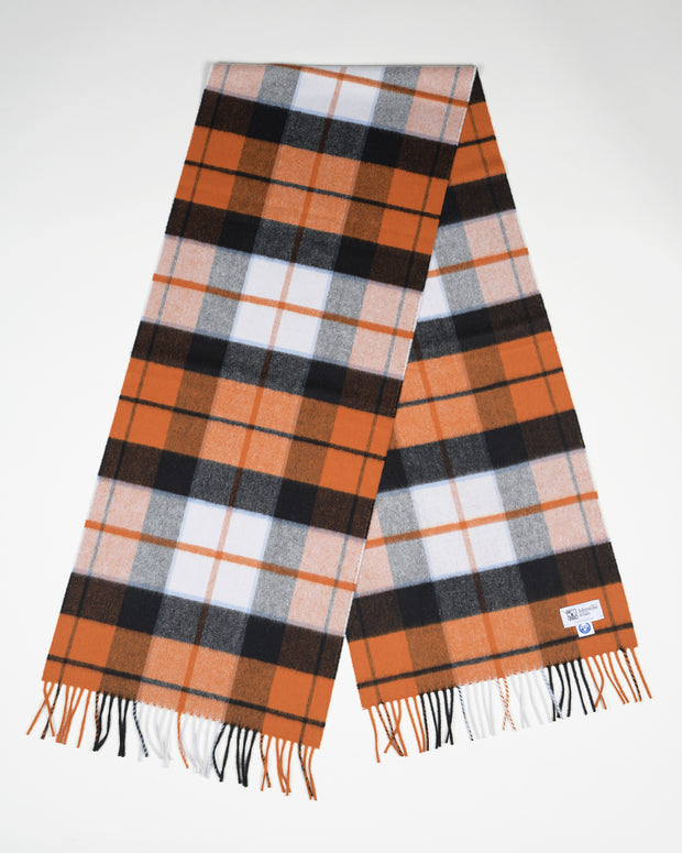 Ultrafine Merino Scarf in Dutch Dress Tartan