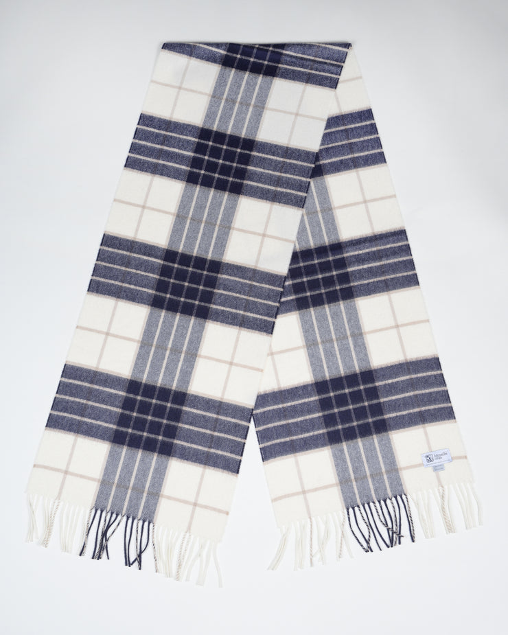Oversized Cashmere Scarf in Knockmore Tartan