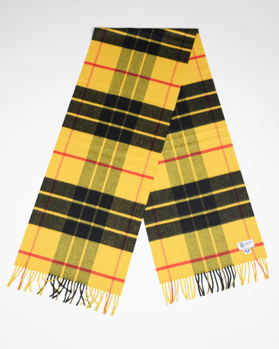 Ultrafine Merino Scarf in MacLeod Tartan - Yellow/Black