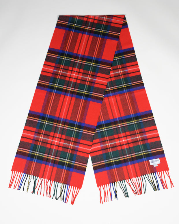 Oversized Cashmere Scarf in Royal Stewart Tartan