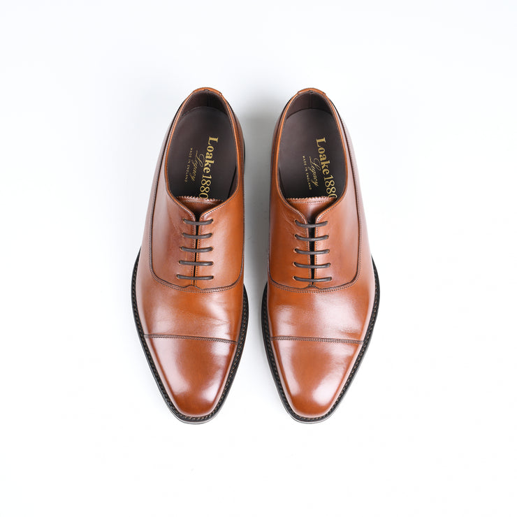 Laxford captoe oxford in Mahogany Burnished Calf