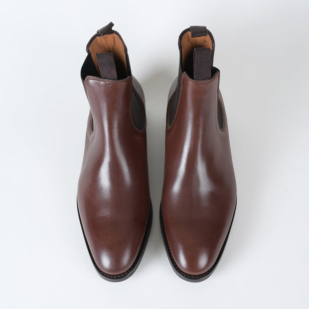 Chelsea Boot in Brown Waxed Calf