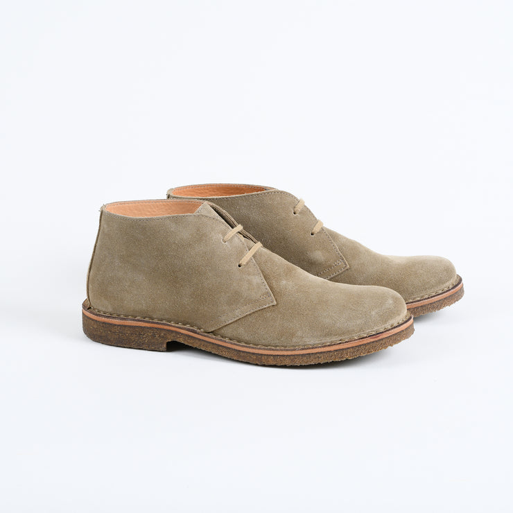 Greenflex Desert Boot in Stone Suede