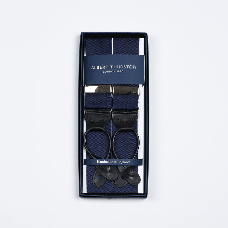Plain Ribbon Braces - Navy / Black