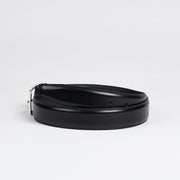 Classic Stitched Belt - Black Calf
