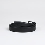 Classic Stitched Nappa Belt - Soft Black Calf