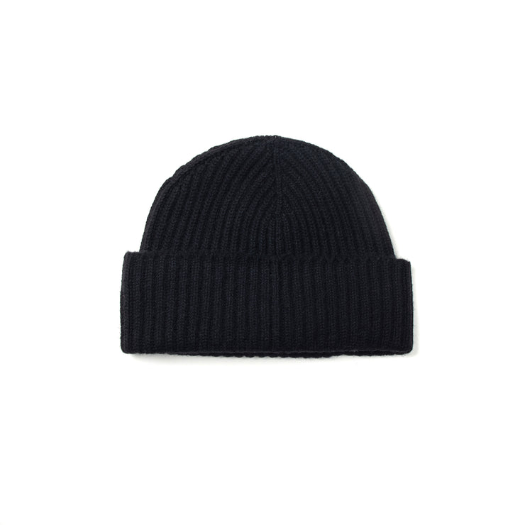 Alex Cashmere Beanie in Black
