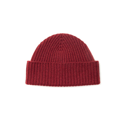 Alex Cashmere Beanie in Burgundy