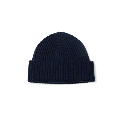 Alex Cashmere Beanie in Dark Navy