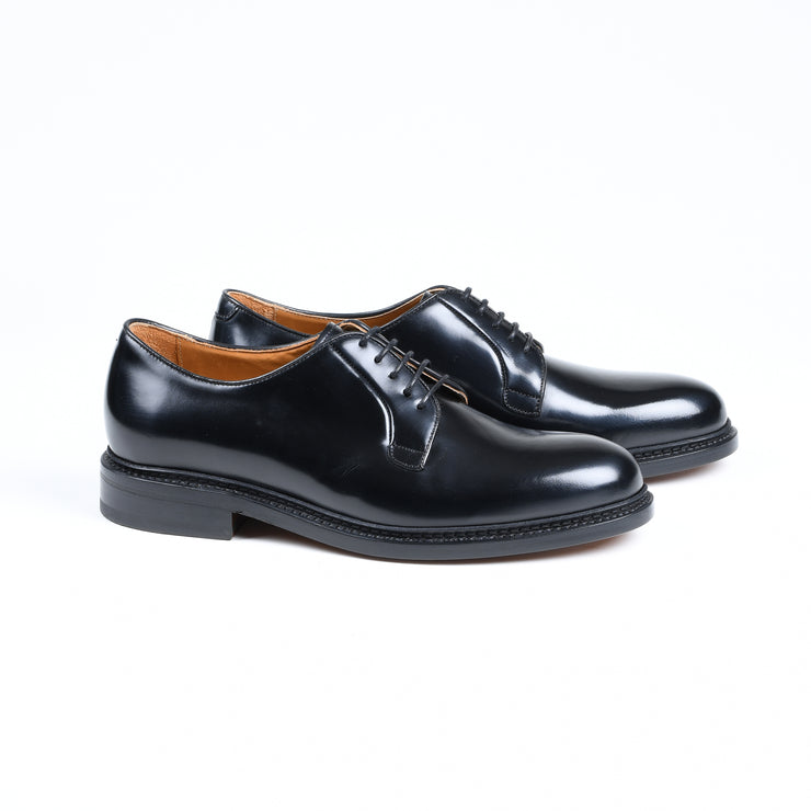 Plain Toe Derby 4406 in Black Polish Binder