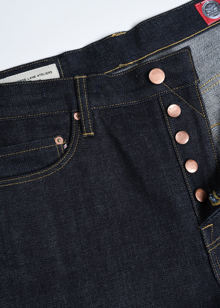 E5 Relaxed Tapered 14oz Japanese Selvedge Denim - Indigo