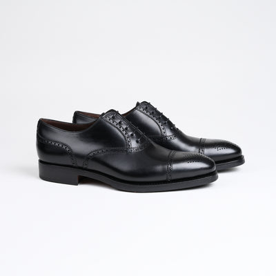 Semi Brogue Oxford 10051 in Black Calf