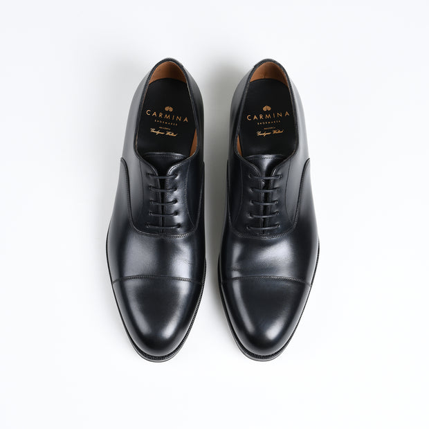 Cap toe Oxford 732 in Black Calf
