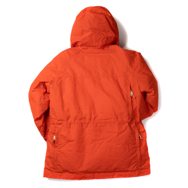 Goose Down Padded Fisherman Parka in Orange