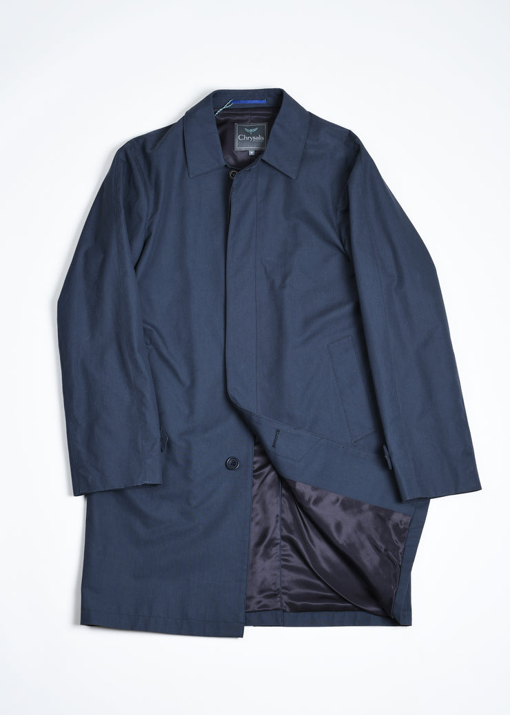 Kilburn Cotton Rain Mac - Navy