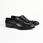 Barrington II semi-brogue oxford in Black Calf
