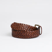 Woven Belt - Brown Calf